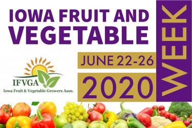 Iowa Fruit and Vegetable Week Graphic